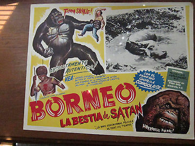 "La Bestia de Satan, Borneo, original movie poster, Mexican version, 12"" x 16"""