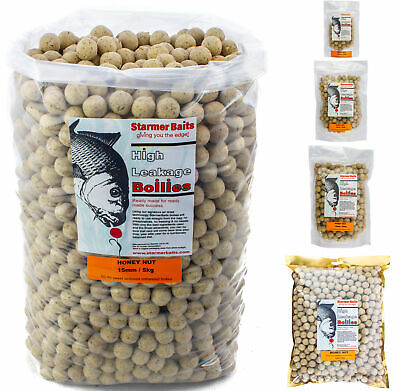 Honey nut boilies for carp and coarse fishing 15mm