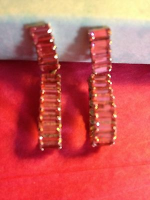 Vintage Clip On Earrings ( In The Pink )
