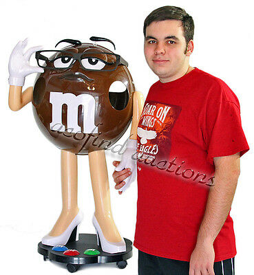 Rare 3' Miss Brown Plain M & M Chocolate Candy Plastic Store Display YUM