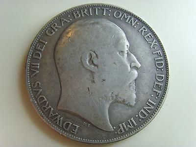 1902 Silver Crown King Edward Vii British Coin Great Britain
