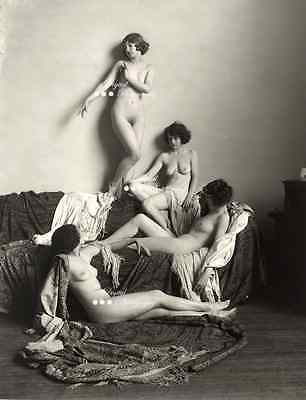 Vintage Erotic Nude Lady Circa 1900s Reproduction Photo On 7x5x190g Gloss Paper.
