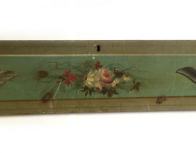Antique Civil War Era Painted Pine Dresser Drawer Front - Original Paint