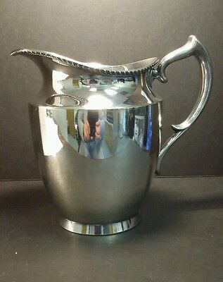 Poole Silverplate Water Pitcher #1023 Antique