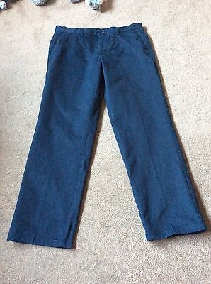Mens Navy Flat Front Dockers Size W36 L32