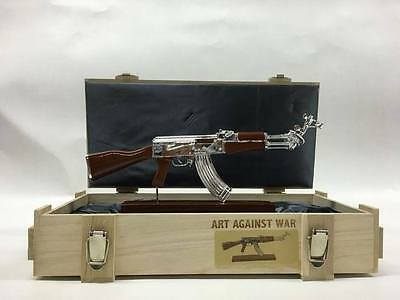 """RAY COSTER """"AK-47"""" sculpture peace edition sign-num/200 +COA  /kaws/hirst/koons"""