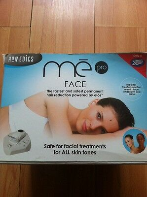 Homedics me pro Ipl Laser FACE hair removal for face, underarm and bikini area.