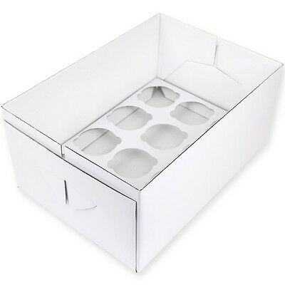 PME deep 12 hole Cupcake Transport Box extra deep 14cm tall strong box & lid