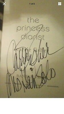 Carrie Fisher COA hand signed Princess Diarist book - photo proof - event ticket