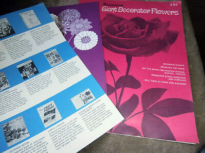 Vtg Rare Dennison Giant Decorator Flowers & bunch of Fun flowers booklets