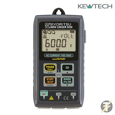 Kewtech Kyoritsu KEW5020 Voltage and Current Data logger