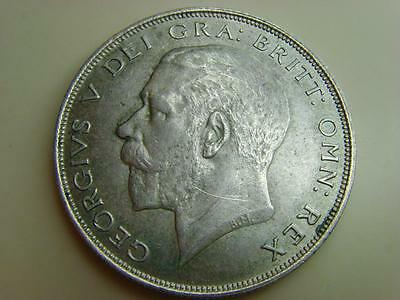 1922 Halfcrown (Scratches To Obverse) King George V British Coin Great Britain