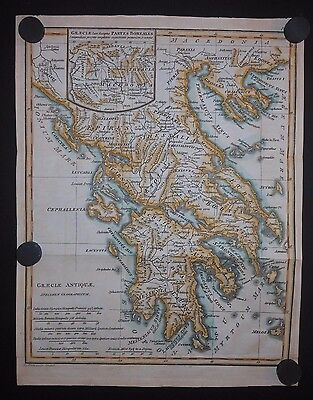 Ancient Greece 1797 Map Hand Colored Macedonia Thrace