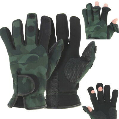 Fishing Gloves Neoprene , Folding Fingers, Hunting, Shooting, SIZES M,L & XL NGT