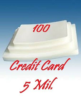 100 CARD SIZE Laminating Laminator, Pouch Sheets  5 Mil. 2-1/8 x 3-3/8