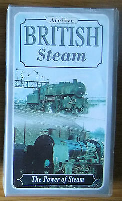 POWER OF STEAM; Castle Home Video - VHS video tape - STEAM RAIL