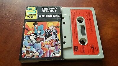 The Who-A Quick One & The Who Sell Out 1974 UK Polydor cassette
