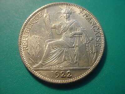 French Indochina - Silver - 1922-A 20-Centimes In Near Uncirculated Condition