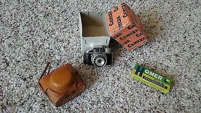 Vintage HOMER collectable mini camera with case, box, and film