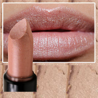 Nyx Round Lipstick - Fortune Cookie - Champagne Nude Beige Shimmer Frost