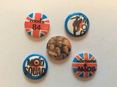 5 Mod /Madness 25mm pin badges (86)