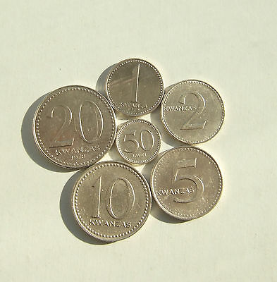 lp ANGOLA - nd 1977 - Set 6 coins - 50 Lwei - 20 Kwanzas (10)
