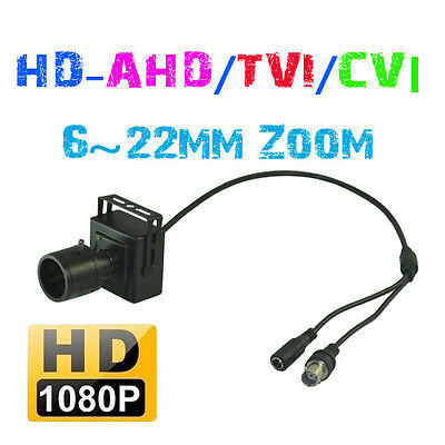 1080P 2.0MP 6~22MM Manual Zoom Lens HD-AHD/TVI/CVI/CVBS MINI CCTV Hidden Camera