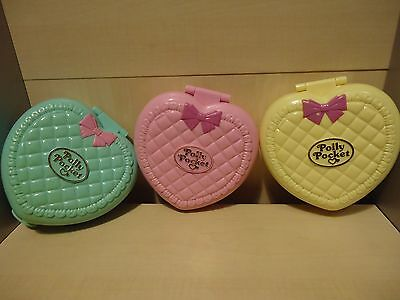 "Lot De 3 Polly Pocket Vintage  "" Collection Babysitter  "" Annee 1994 / Bluebird"