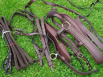 NEW Brown Leather Driving Harness for Single Horse