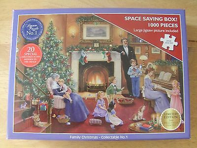 *christmas Collectable Jigsaw Puzzle* *family Christmas* *1000 Pieces* *ltd Ed*
