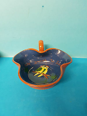 Jam Dish. From Westgate Help yourself to jam. Blue, Parrots. Torquay Ware