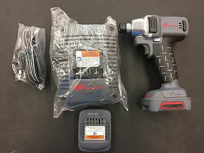 """NEW Ingersoll Rand 1/4"""" Drive, 12v Cordless Impact w/ 2 Batteries, Charger"""