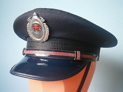 Firefighters Rare Actual Officer Hat Cap Serbia Yugoslavia Fireman Firefighting