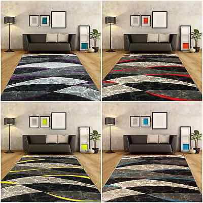 Small Extra Large Rug New Modern Waves Rugs Soft Thick Non Shed Mats Runners Rug
