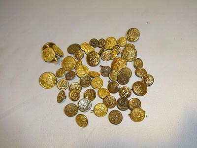 Big Lot Of Authentic & Original Us Army Wwii Eagle Uniform Buttons