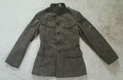 WWI US Army Doughboy Wool Uniform Tunic Coat/Jacket/ No Reserve 30th Division