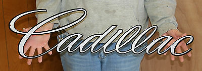 NEW CHEVROLET Cadillac Script SIGN - PhotoSTEEL Steel Signs