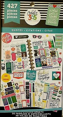 """Mambi Create 365 """"the Happy Planner """" Sticker Book- Quotes 427 Stickers"""