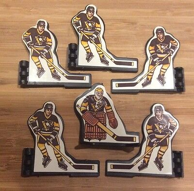Original Coleco Table Hockey Players 1980's Pittsburgh Penguins