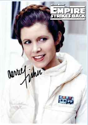 Carrie Fisher / Princess Leia, Star Wars, Empire Strikes *REPRINT* Signed '025'