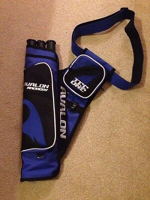 Blue Avalon Tec One Archery Quiver Left Handed