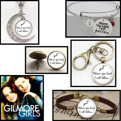 Where You Lead I Will Follow Gilmore Girls Necklace TV Show jewelry