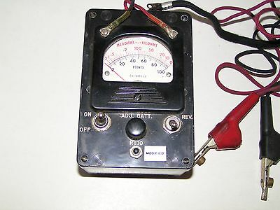 Vintage KS-8455 L2 Bell System Ohm Test Meter Insulated w 2 Cables & Carry Case