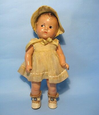 "1935 A/O 7.5""Annette Dionne Quint/Quintuplet Madame Alexander Compo Toddler Doll"