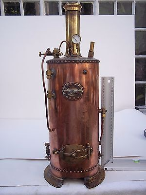 LIVE STEAM BOILER SOLID FUEL/GAS  EARLY BUILD great looker.