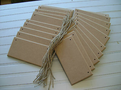 """30 PLAQUES X 6"""" x 3"""" CURVED edge PLAIN MDF WOODEN PLAQUES BLANKS signs"""