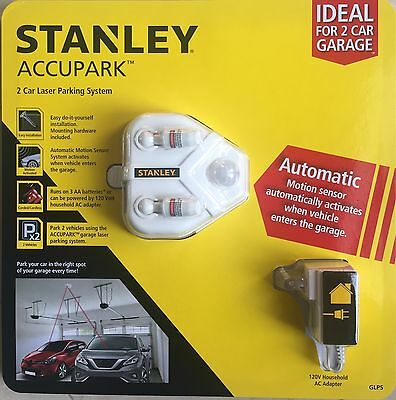 STANLEY Accupak 2 Car Garage Laser Parking System Motion Sensor Activated