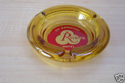 "Vintage ~ Magnificent Riviera Hotel, Las Vegas, Nevada""  Souvenir Glass Ashtray"
