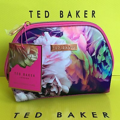 TED BAKER Floral Technicolour Bloom Cosmetic Purse Make Up Wash Bag Purse NEW