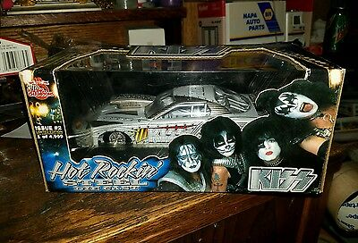 1999 Racing Champions Hot Rockin' Steel Kiss Silver Trans Am 1-24 Scale And Two